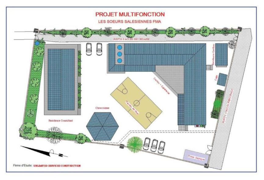 Planimetria generale dell'area con vista d'insieme dell'intervento in progetto