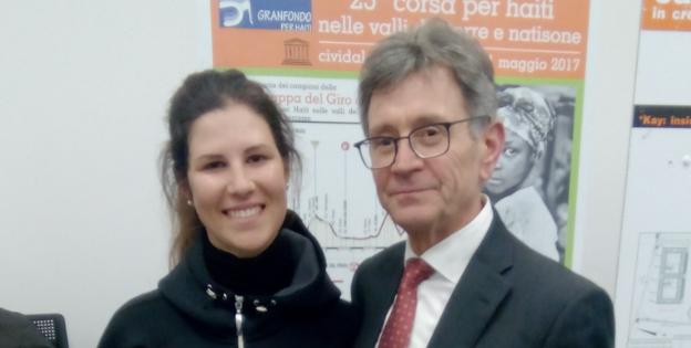 Elena Cecchini con Sante Chiarcosso