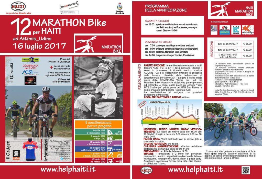 Manifesto 2017 12 ^ Marathon Bike per Haiti di Attimis
