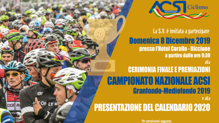 Presentazione nuovo Campionato Nazionale Acsi Ciclismo 2020